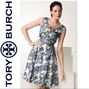 Tory Burch Amalia Floral Linen Dress